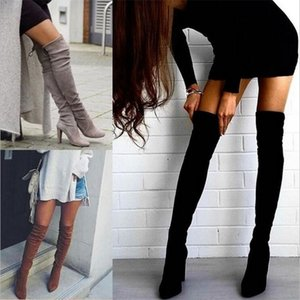 34-43 2020New Shoes Women Size Black Over the Knee Sexy Female Autumn Winter lady Thigh High Boots