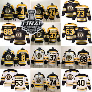 Boston Bruins 4 Bobby Orr 74 Jake Debrusk 37 Patrice Bergeron 40 Rask 63 Brad Marchand 88 David Pastrynak Jersey