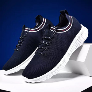 With Socks fashion Luxury Men Women Running Shoe black white blue grey Breathable Sports Sneakers Mens Trainers lightweight casual shoes