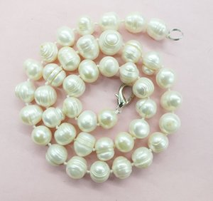 """Uau 16"""" 12-14mm Branco barroco água doce Cultured Pearl Necklace 50 cm (/ Flawed nota) Y19050901"""
