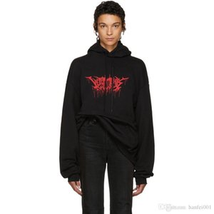 17FW VETEMENTS Metal Hoodies Flame Letters Printed Sweatshirts Couple Top Oversize Coats Hooded Fashion Hip Hop HFWY016