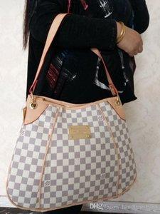 Spedizione gratuita !!! Vendere bene !!! spalla o Tote Bags stile classico M56382 beige plaid