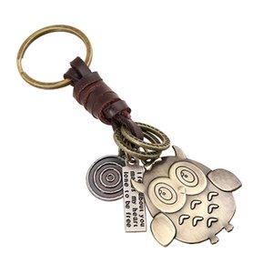 Nouveau mode Porte-clés Cute Animal Punk Keychain Porte-clés LXH Bijoux en cuir