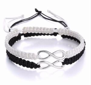 20pcs lot Lucky Infinity Handmade Bracelet Set Friendship Bracelet Infinity Love Couples Bracelet Set Infinity Jewelry