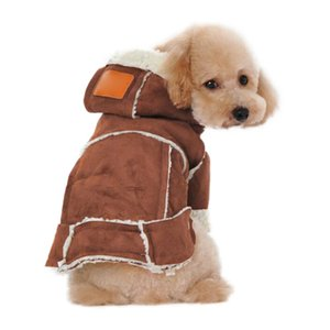 Thickened Coat Pet Plush Garment Winter Dog Cotton Clothes Warm Hoodies Jacket With Hat Outdoor Pet Supplies