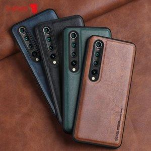 X-LEVEL Earl Series For XIAOMI MI9 MI10 MI10PRO Case Leather Case Soft Silicone Edge Back Phone Cover tpu soft shell cove