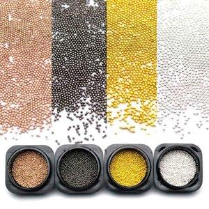0.8mm 3d металла микро шариков из нержавеющей стали для ногтей аксессуары Золото Nail бусины Micro Nail Art украшения Коты MJZ2079