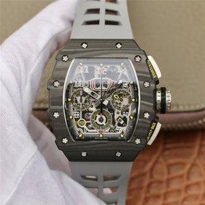 KV rm11-03 montre Luxus Rückkehr automatische Bewegung Zeituhr Titan Stahlgehäuse Silikonband Designer Uhren Klappschließe