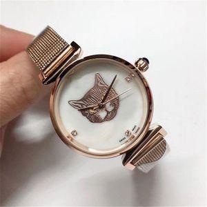Factory New Fashion Luxury Women Watch With Diamond Rose Gold Special Design Relojes De Marca Mujer Lady Dress Watches Quartz wristwatch