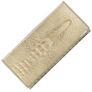 Jiulin kadınlar kilit cüzdan kadın çanta para sikke çantalar tutucu hakiki deri pu 3d timsah timsah uzun debriyaj cüzdan