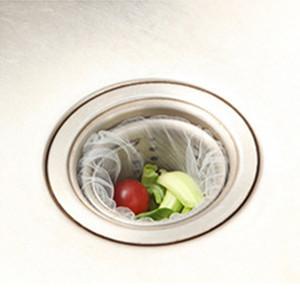 30pcs del fregadero de cocina agujero para drenaje de basura colador de malla desechable bolsa de basura de baño Cocina Cubo de la basura bolsa de filtro Tamices VT0471