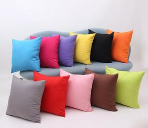 45 * 45CM Home Sofa Throw Pillowcase Pure Color Polyester White Pillow Cover Cushion Cover Decor Pillow Case Blank christmas Decor Gift