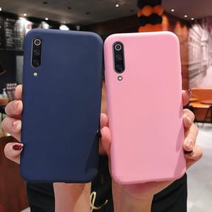 cassa della caramella di colore silicone solido avanti per Xiaomi MI 9 MI9 SE 9 Lite Pro sottile del telefono di TPU copertura posteriore coque Funda per xiaomi9 Xiomi 9SE