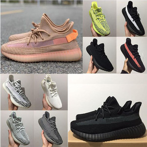 Adidas Yeezy 350 V2 Running shoes Static Refective Kanye west 350 V2 Schuhe Günstige Belgua 2.0 Semi Gefrorene gelbe Schuhe Qualitäts-Entwerfer-Mann-Frauen-Trainer Turnschuhe 36-47
