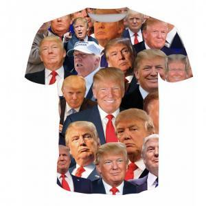 Donald Trump 3D Baskı T-Shirt Erkekler üzerinde boyutu O-Boyun Uzun Kollu T Gömlek Amerika Büyük Tekrar Ev Giyim Tops KKA7370