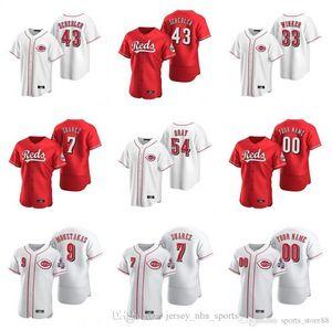 2020 Nick Senzel Jersey Herren Sonny Gray Raisel Iglesias Michael Lorenzen Luis Castillo Jose Peraza Weiß Baseball Individuelle genähtes