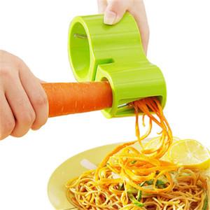 Multi Funcional Cabeza de doble espiral de alambre Planer con afilador de cuchillos de cocina utensilio de cocina Gadget CORTAVERDURAS pelador de aguacate