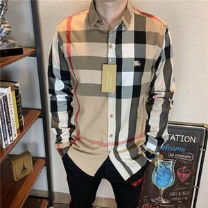 shirt pour hommes occasionnels logistique gratuits nouveau luxe hommes chemise à manches longues et chemise européenne de tendance de la mode de la marque américaine de vêtements-0128