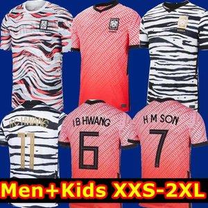 Top Thaïlande 2020 2021 Corée du Sud Soccer Jersey H M SON H C HWANG Shirt Mens I B HWANG 20 21 Corée du Sud Domicile Extérieur Uniforme Enfants Football