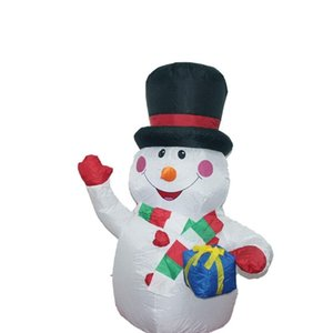 1.2M Large Inflatable Snowman LEDs Inflator for Outdoor Christmas Decor