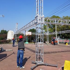 290мм алюминиевый освещения ферменная конструкция Spigot квадрата алюминиевого Spigot круга алюминиевая плоская ферменная конструкция Spigot, система ферменной конструкции башни системы продажи нам