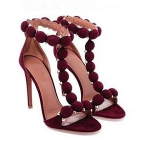 Hot Sale-Sommer-Mode High Frauen Schuh-Frauen-verzierte verschönerte Kugelknöchelriemen-Sandalen Pumps Sandalen