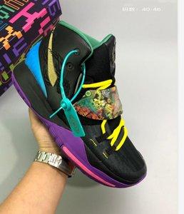 2020 Hot Vente Kyrie6 Crystal Bracelet magique Fermoir Hommes Chaussures de basket-ball de haute qualité Irving 5 Kyrie 6 Graffiti Sport Sneakers Taille 40-46