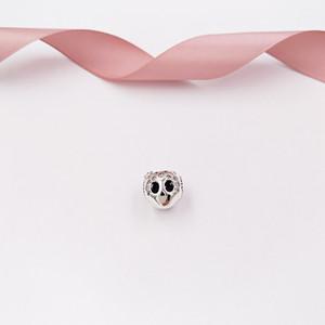 """""""Authentic 925 Sterlingsilber-Perlen funkelnde Schädel-Charme-Anhänger Passt europäischen Pandora Style Schmuck Armbänder Halskette 797866CZ"""""""