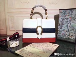 2019GUCCCI 421999 Dionysuss Bamboo Top Handle Colorblock Leather 2 Way Bag Size:27*22*10CM