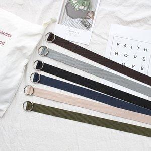 New Designer Canvas Belts for Men Women Hip Hop Belt Street Casual Loose Waist Strap High Quality Yellow Belt Belts