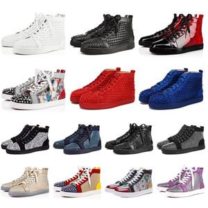 nike Tasarımcı Lüks marka kadın erkek Kırmızı Dipleri ayakkabı Hakiki Deri Çivili Spike Flats rahat ayakkabılar süet Parti Severler Platformu Sneakers