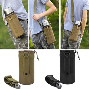 1.5L Outdoor Tactical Water Bag Crossbody Bag Water Bottle Pouch Molle Pack Shoulder for Sport Camping Hiking