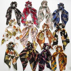 Vintage Saç Scrunchies Bow Kadınlar Aksesuarları DIY Saç Bantları Kravatlar Scrunchie at kuyruğu Tutucu Lastik Halat Saç Dekorasyon Horsetail Bağları