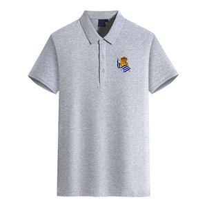 Moda Campo de la camiseta del polo camisa de los polos de manga corta T Real Sociedad de Fútbol Club de fútbol los hombres del logotipo