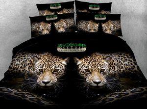 Leopard Bedding set  Comforter bedspread bed sheet sheets duvet cover Animal print Super King Queen size full twin 5PCS