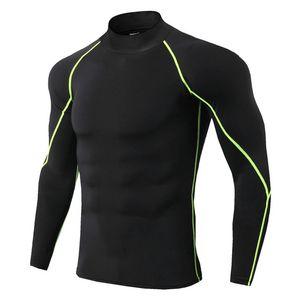 Heißer Verkauf Running Shirt Männer Neue Quick Dry Bodybuilding Sport T-shirt Langarm Compression Top Gym T-shirt Männer Fitness Enge Rashgard Top