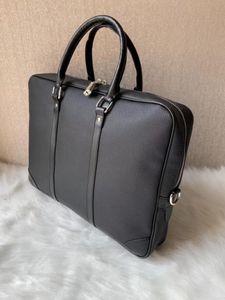 2020 berühmte Marke Simple Herren Leder Aktentasche Tasche Solide Große Geschäftsmann Tasche 14 Zoll Laptop Handtasche