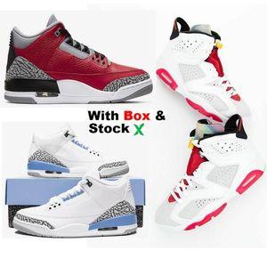 2020 Yeni 6 Hare 90 Ters 6S Camo Duck Kutu Erkekler Knicks Men With 2020 Kırmızı çimento UNC Sneakers Basketbol ayakkabıları