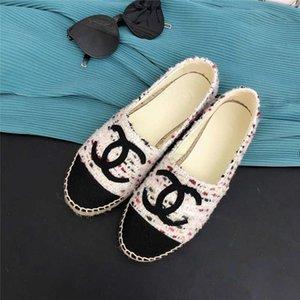 Bajo-Top de lujo Alpargatas Pescador de zapatos de piel de oveja casual de diseño de lujo de la venta superior hecha a mano de las mujeres zapatillas de deporte de suela de goma de Ladys