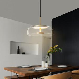 Nordic modern minimalist pendant lamp creative living room chandelier art bedside bedroom sofa designer single head glass led chandelier