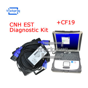 Truckprog for CNH EST Diagnostic Kit for New Holland CASE Diagnostic Tool with CF19 laptop 9.0 Engineering Level Truck Diagnosis