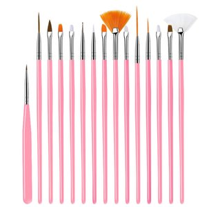 Nail Brush For Manicure Gel Nail Art 15Pcs Set Ombre Brush For Gradient For Gel Nail Polish Painting Drawing