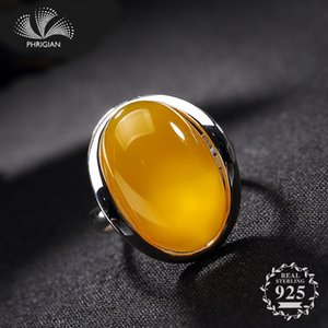 Certified POLAND Amber S925 Poland Ring 925 Sterling Silver Handmade Vintage lithuania Retro citrine Amber copal chrysoberyl C18112301