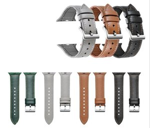 For Apple Watch bands 38mm 42mm 40mm 44mm 5th generation silicone leather straps iWatch band leather Sports Bracelet Watchbands
