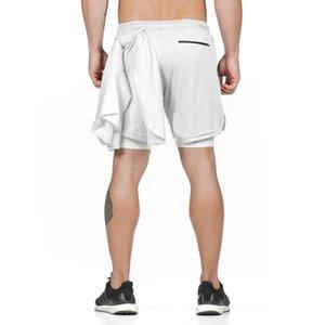 dos homens Shorts Moda de Nova Mens Quick Dry Formação Sports Shorts Casual Men malha Hetero solto joelho Curto 8 cores Tamanho S-2XL