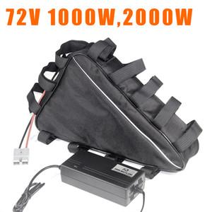 72v ebike triangolo ione di litio 72V 20Ah 30Ah batterie elettriche della bicicletta 72 volt batteria 2000w 1500w 1000w