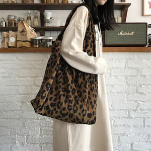 2020 Fashionable Women's Leopard Briefcase Casual Handbag Large Capacity Environmental Protection Shopping Bag