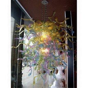 2020 Colorido Murano Vidro Chihuly Chandelier Sala Decor Mão fundida de vidro LED Blubs Lâmpadas Pingente Venda