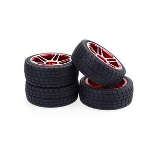 hobbysoul 4шт новый RC 1/10 на дороге шины мягкого алюминиевого сплава колеса с шестигранной 12 мм