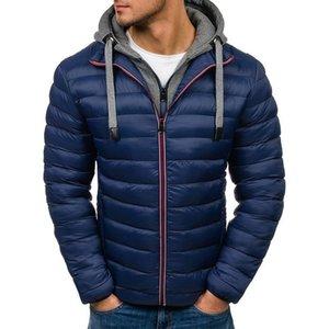Vogue Winter Jacket Men Hooded Coat Causal Zipper Men's Jackets Parka Warm Clothes For Men Streetwear Clothing Winter Coat
